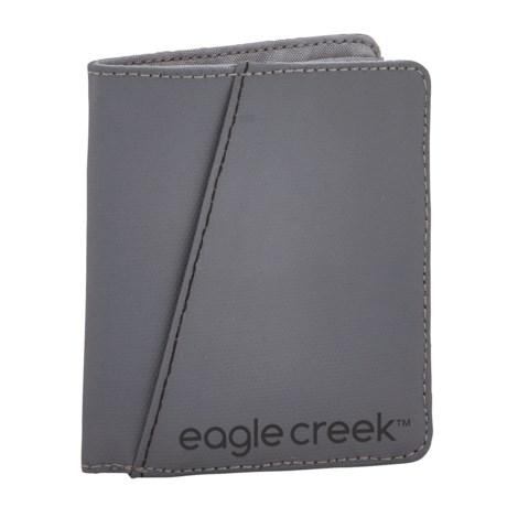 Eagle Creek Vertical Bi-Fold Wallet in Stone Grey