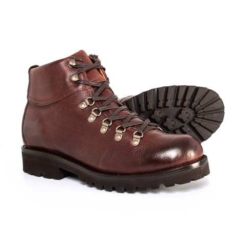 Earl Hiker Leather Boots (For Men) - BROWN (9 )