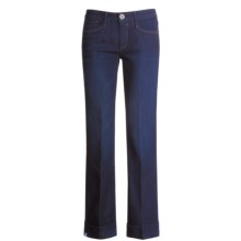 Earnest Sewn Dapper Cuffed Jeans (For Women) in Medium Shine - Closeouts