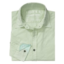 Earnest Sewn Micro Check Shirt - Cotton Enzyme Wash, Long Sleeve (For Men) in Watermint - Closeouts