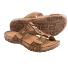 Earth Abaca Sandals - Leather (For Women) in Almond Calf Leather - Closeouts