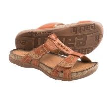 Earth Abaca Sandals - Leather (For Women) in Henna Calf Leather - Closeouts