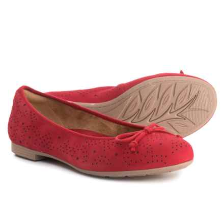 Earth Allegro Ballet Flats - Suede (For Women) in Red Suede - Closeouts