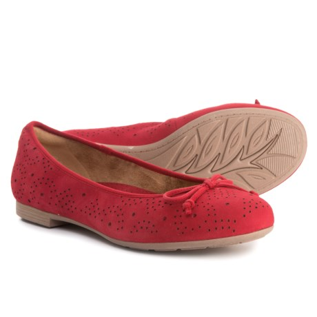 Earth Allegro Ballet Flats - Suede (For Women) in Red Suede