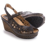 Earth Aquarius Sandals - Leather, Wedge Heel (For Women)
