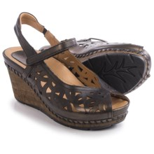 Earth Aquarius Sandals - Leather, Wedge Heel (For Women) in Bronze Leather - Closeouts