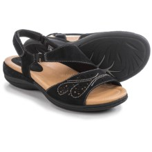Earth Arbor Sandals - Nubuck (For Women) in Black Soft Buck - Closeouts