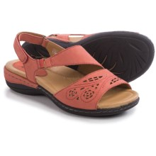 Earth Arbor Sandals - Nubuck (For Women) in Coral Soft Buck - Closeouts