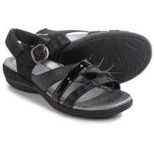 Earth Aster Sandals - Nubuck (For Women) in Black Croco - Closeouts