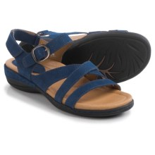 Earth Aster Sandals - Nubuck (For Women) in Blue Nubuck - Closeouts