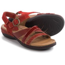 Earth Aster Sandals - Nubuck (For Women) in Red Croco - Closeouts
