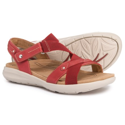4808d5fd1f30 Earth Bali Quarter Strap Sandals (For Women) in Bright Red