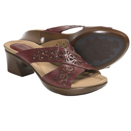 Earth Balsam Sandals - Leather (For Women) in Regal Red Calf