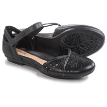 Earth Belltower Sandals - Leather (For Women) in Black Calf - Closeouts