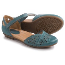 Earth Belltower Sandals - Leather (For Women) in Parisian Blue Calf - Closeouts