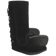Earth Blaze Boots - Suede (For Women) in Black Suede - Closeouts