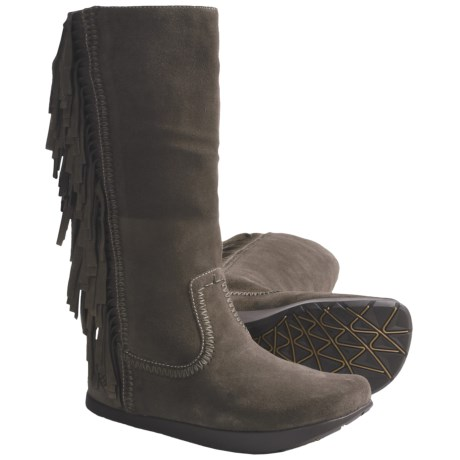 Earth Blaze Boots - Suede (For Women) in Black Suede