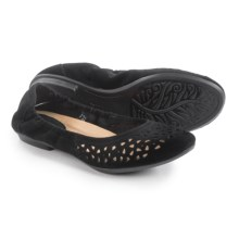 Earth Breeze Ballet Flats - Suede (For Women) in Black Suede - Closeouts