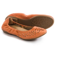 Earth Breeze Ballet Flats - Suede (For Women) in Burnt Orange Suede - Closeouts