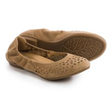 Earth Breeze Ballet Flats - Suede (For Women) in Camel Suede - Closeouts