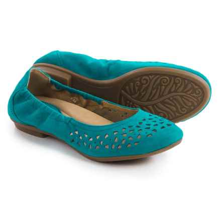 Earth Breeze Ballet Flats - Suede (For Women) in Turquoise Suede - Closeouts