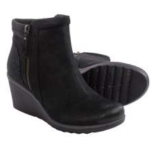 Earth Cardinal Ankle Boots - Nubuck, Wedge Heel (For Women) in Black Nubuck - Closeouts