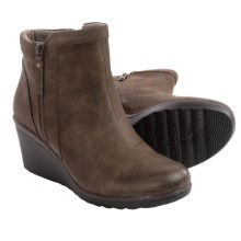 Earth Cardinal Ankle Boots - Nubuck, Wedge Heel (For Women) in Stone Nubuck - Closeouts