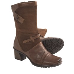 Earth Chinook Leather Boots - Side Zip (For Women) in Dark Grey