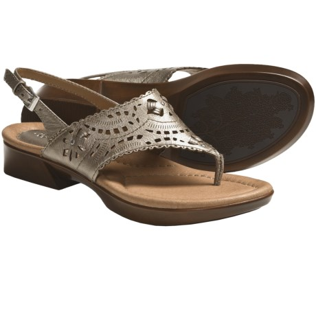 Earth Clove Sandals - Leather (For Women) in Platinum Calf