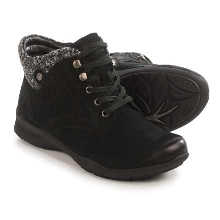 Earth Davana Ankle Boots - Leather (For Women) in Black - Closeouts