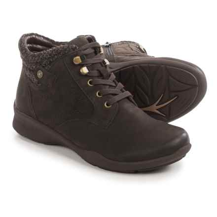 Earth Davana Ankle Boots - Leather (For Women) in Dark Brown - Closeouts