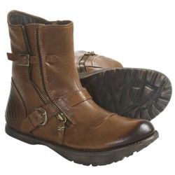 Earth Diablo Ankle Boots - Leather (For Women) in Almond