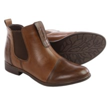 Earth Dorset Leather Chelsea Boots - Slip-Ons (For Women) in Bark Leather - Closeouts