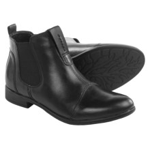 Earth Dorset Leather Chelsea Boots - Slip-Ons (For Women) in Black Leather - Closeouts