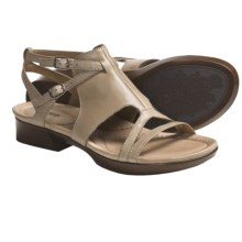 Earth Dual-Buckle Sandals - Leather (For Women) in Biscuit Calf - Closeouts