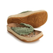Earth Flora Crochet Sandals (For Women) in Green - Closeouts
