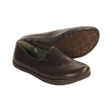 Earth Frida Shoes - Leather Slip-Ons (For Women) in Mahogany - Closeouts