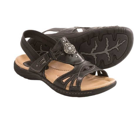 Earth Guava Leather Sandals (For Women)
