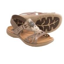 Earth Guava Leather Sandals (For Women) in Platinum Calf Leather - Closeouts