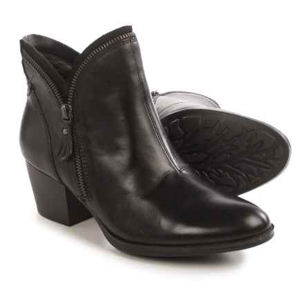Earth Hawthorne Ankle Boots - Leather, Side Zip (For Women) in Black Leather - Closeouts