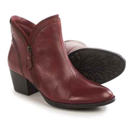 Earth Hawthorne Ankle Boots - Leather, Side Zip (For Women) in Bordeaux Leather - Closeouts