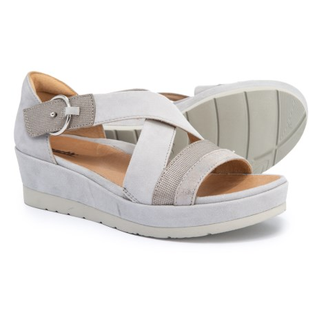 c9634cccbc Earth Hibiscus Wedge Sandals (For Women) in Light Grey