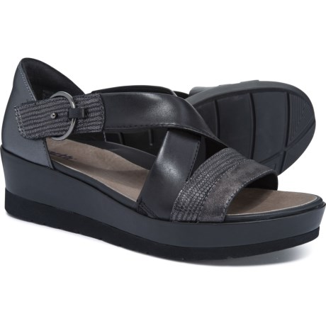 e55ca94594 Earth Hibiscus X-Strap Sandals (For Women) in Black Multi
