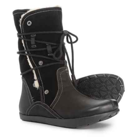 Earth irage Tall Boots - Leather and Suede (For Women) in Black - Closeouts