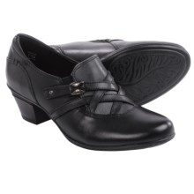 Earth Kindle Leather Pumps - Slip-Ons (For Women) in Black Leather - Closeouts