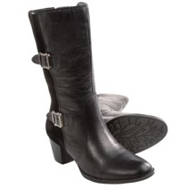 Earth Larch Boots - Leather, Full Zip (For Women) in Black Leather - Closeouts