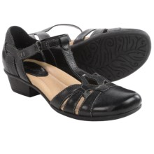 Earth Luck Sandals -Leather (For Women) in Black - Closeouts