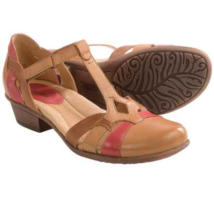 Earth Luck Sandals -Leather (For Women) in Sand Brown Multi - Closeouts