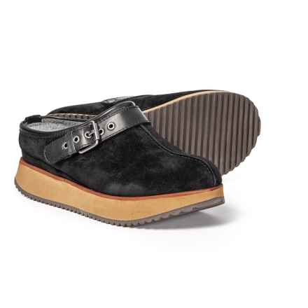 Earth Lyra Clogs - Suede (For Women) in Black