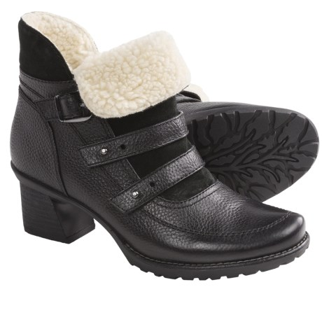 Earth Mistral Ankle Boots - Leather (For Women) in Black